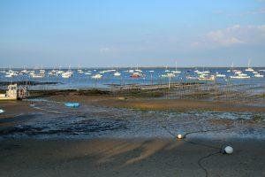 Bassin d'Arcachon France: zone de pêche, d'ostréiculture et de tourisme. Copyright N. Prouzet